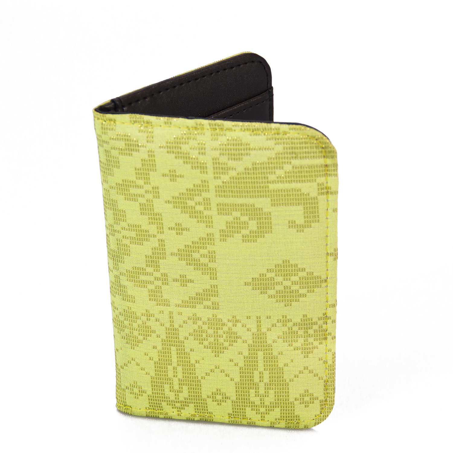 Lemon Passport Holder with Tradisional Songket Design